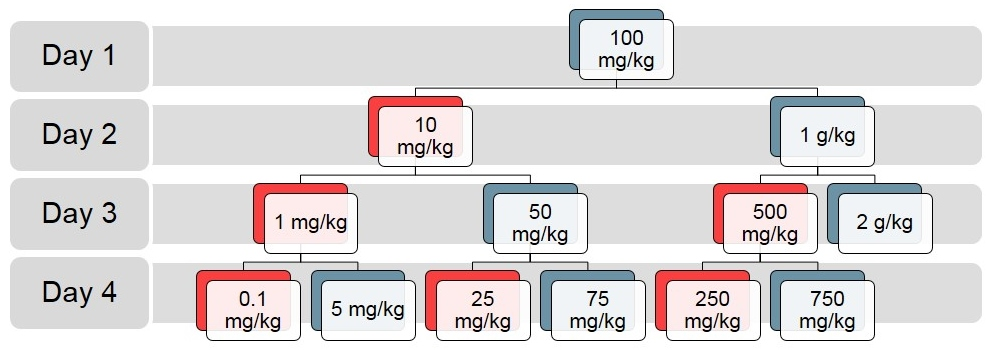 Example Dose Evaluation Decision Tree