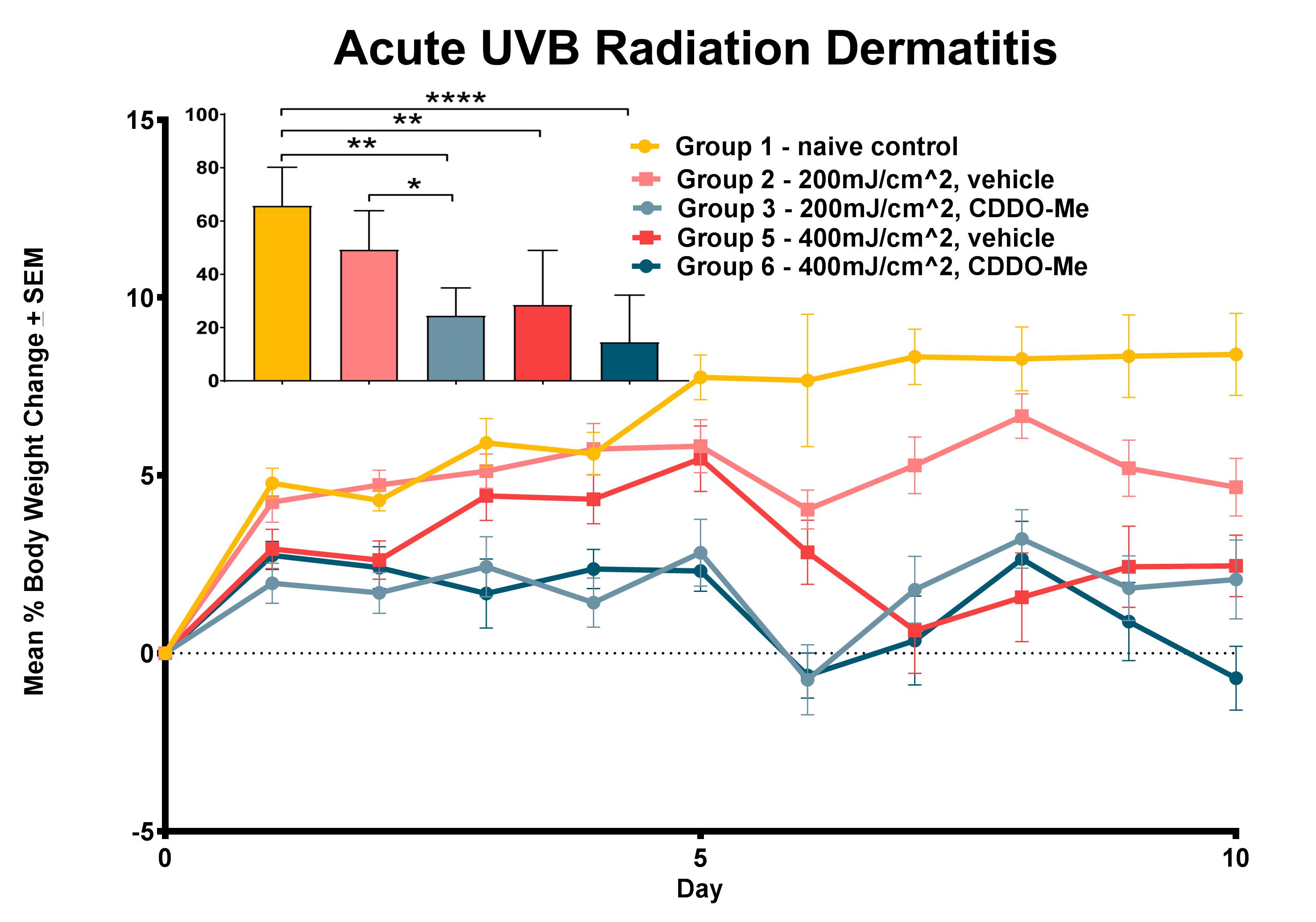 Acute UVB Radiation Dermatitis